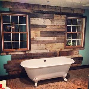Reclaimed Things Wood Wall - Rustic - Bathroom - other