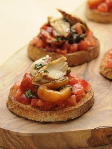 bruschetta maquereaux tomates  poivrons recette en