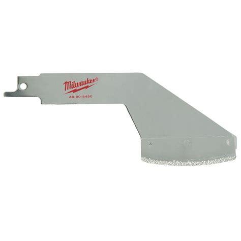 sawzall blades milwaukee 5 in grout rake reciprocating saw blade 49 00