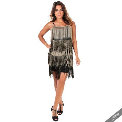 mode 20er jahre damen damen kleid fransenkleid 20er jahre swing charleston minikleid partykleid kurz ebay
