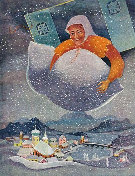 frau holle illustrationen grimm and mythology