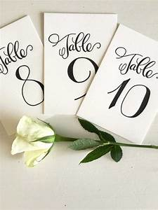 Calligraphy Table Numbers - Wedding Table Numbers ...