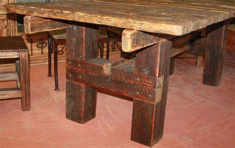 barnwood dining table durango trail rustic furniture