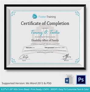 Course Completion Certificate Format Word 36 Sample Certificate Of Completion Templates In