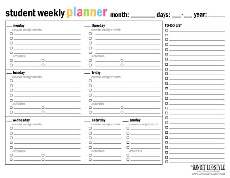 Weekly Assignment Calendar Python List Assignment Free Weekly