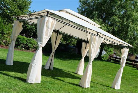 eleganter gartenpavillon  meter dach  wasserdicht