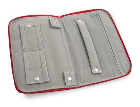 Shop for Red Travel Jewelry Organizer with Zip Closure