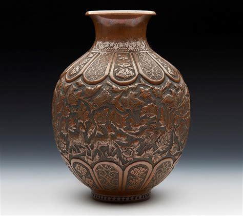 copper vase antique exceptional quality antique copper vase with birds 2588