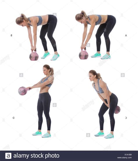 Russian Swing Kettlebell by Kettlebell Swing Stock Photos Kettlebell Swing Stock
