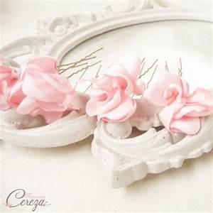 Deco Rose Pale : pics chignon mariage fleur rose pale nude blush personnalisable ~ Teatrodelosmanantiales.com Idées de Décoration