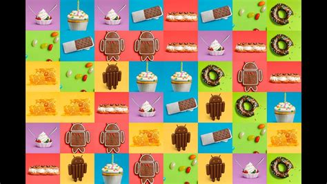 Android Versions Including Android 4.4, Kitkat