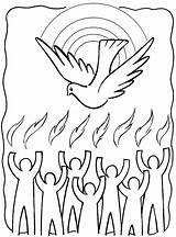 Pentecost Coloring Pages Clip Spirit Holy Clipart Drawings Catholic Colouring Fire Site sketch template