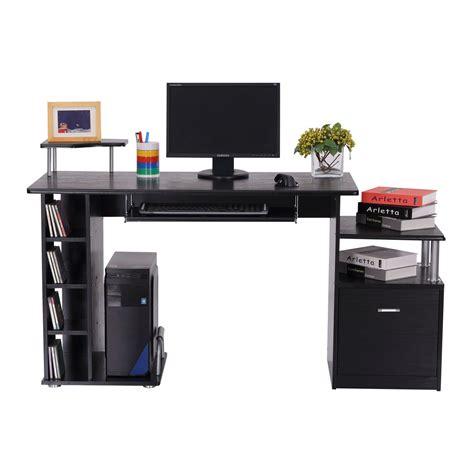 desk with drawer homcom scrivania per computer moderna tavolo da ufficio