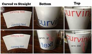 how to put vinyl on cups and tumblers so it39s straight With vinyl letters for plastic cups