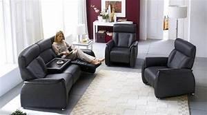 Sofa Mit Relaxfunktion Leder : sofa tessa 3 sitzer fernsehsessel mit funktion echtes leder in schwarz ebay ~ Indierocktalk.com Haus und Dekorationen