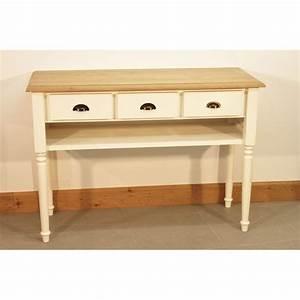 Console Meuble But : meuble console blanc teinte huile cire style romantique ~ Teatrodelosmanantiales.com Idées de Décoration