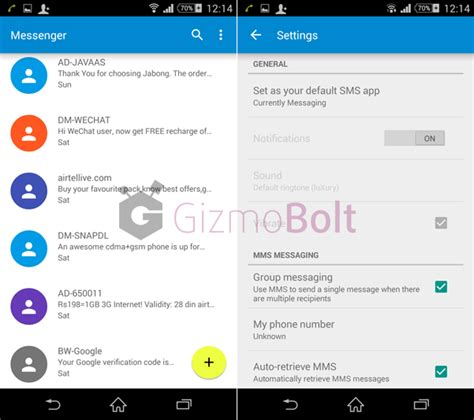 android sms app sms messenger app from android 5 0