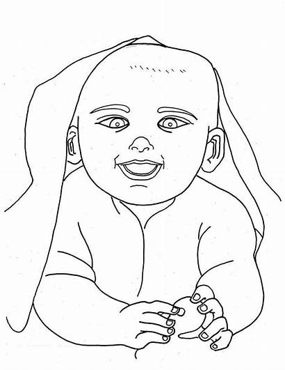 Coloring Pages Newborn Babies Printable Drawing Getdrawings