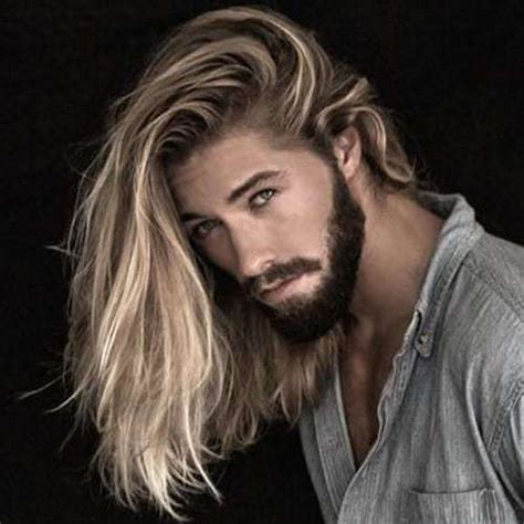 epic long wavy hairstyles  men manly ideas