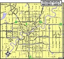 Edmonton City Map - Map of Canada City Geography