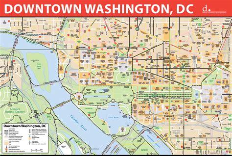 washington dc downtown bike map