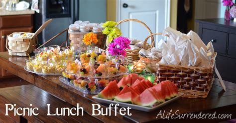 picnic lunch buffet   outdoor party   menu