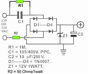 These Are 12v Dc Power Supply Circuit Which Designed Without Transformer  Trafo   The Circuit