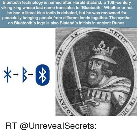 bluetooth technology is named after harald blatand a 10th century viking king whose last name