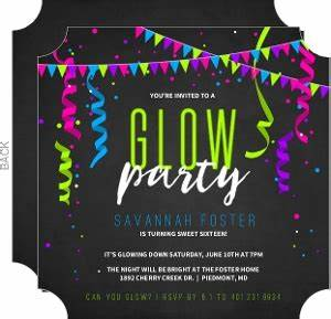 90 Glow In The Dark Party Invitations Free Templates