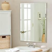 vanity mirrors for bathroom Décor Wonderland Frameless Leona Wall Mirror - 23.5W x 31 ...