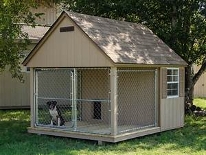 Dog kennels for sale provide a year round home for your dog for Dog run outdoor kennel house