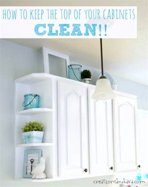 cleaning  tops  cabinets