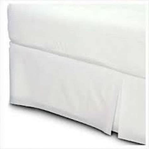 box pleat bed skirt decent white cotton box pleat bed skirt tailored