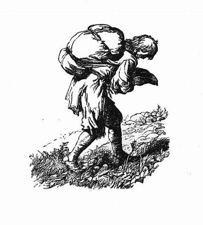 Progress Pilgrim Burden Pilgrims Christian Drawing He