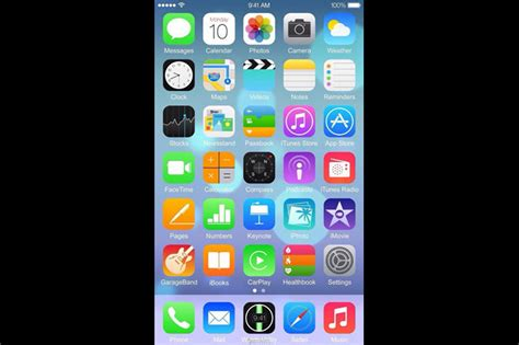 iphone ios 8 apple inc aapl iphone 6 new images and screenshots of