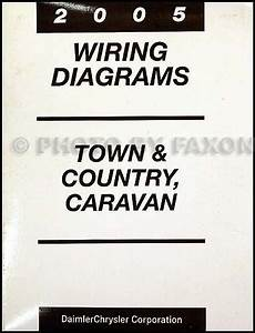 2005 Chysler Town  U0026 Country And Dodge Caravan Wiring Diagram Manual Original
