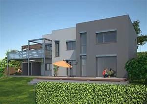 Dům ve svahu projekt