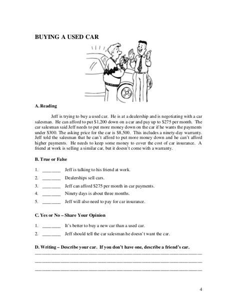 esl english language reading quiz worksheets book 1