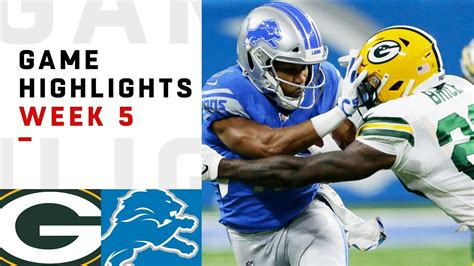 packers  lions week  highlights nfl  youtube