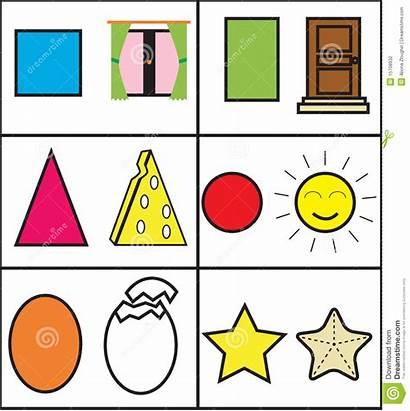 Geometric Matching Shapes Shape Children Match Vector