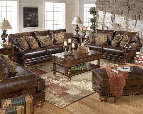 antique leather sofa traditional living room furniture set