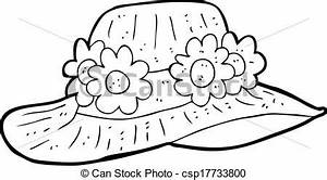 Vector Clipart of cartoon summer hat csp17733800 - Search ...