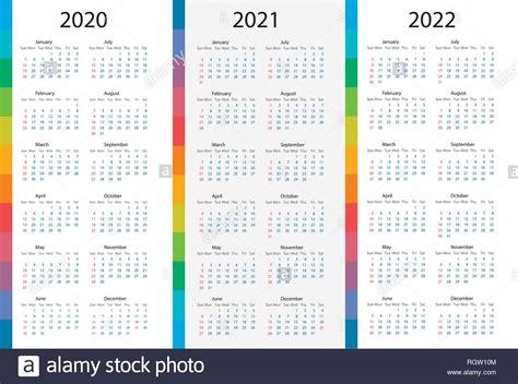 calendar template set     years week