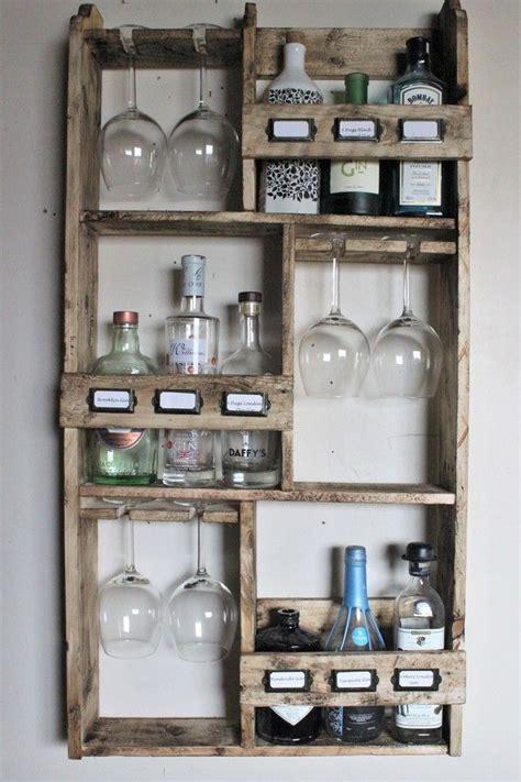 gin rack  bottles  goblet glasses storage rack