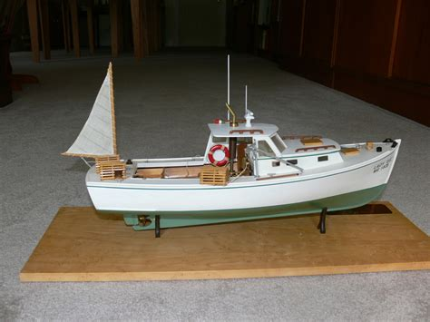 Lobster Boat Wood Model by Model Lobster Boat Plans Andybrauer