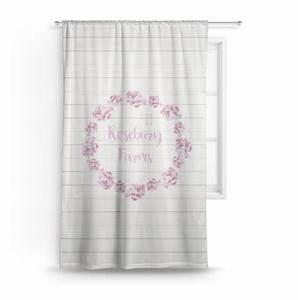 Farm, House, Sheer, Curtains, Personalized