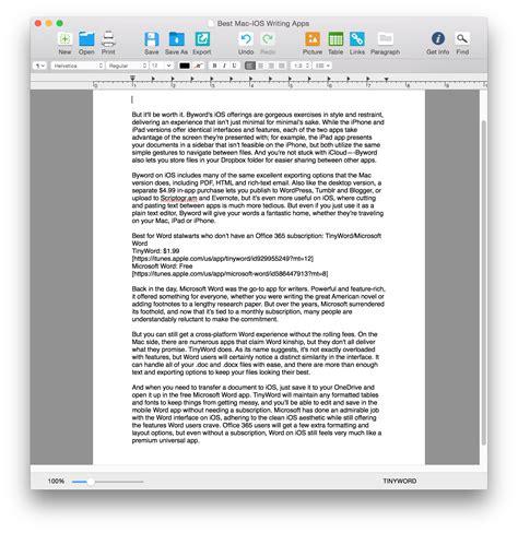 cross platform writing apps  mac  ios