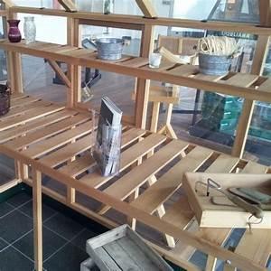 Etagere Pour Serre : etag re en bois pour serre de jardin classic 4 4m juliana ~ Premium-room.com Idées de Décoration