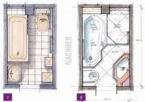 Kleine Bäder Grundrisse : kleine b der minib der kleine badezimmer unter 4m ~ Lizthompson.info Haus und Dekorationen