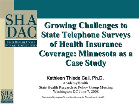 And/or aetna life insurance company. The Growing Challenges to State Telephone Surveys of Health Insurance…